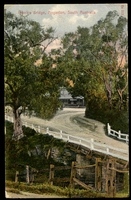 Lot 1324 [1 of 2]:Angaston: multicoloured PPC 'Penrice Bridge, Angaston, South Australia', franked with 1d red DLR, cancelled with 29 July 1910 North Adelaide cds, addressed to Leeds, England.  PO 10/10/1846.