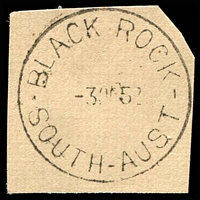 Lot 1293:Black Rock: - 'BLACK ROCK/3OC52/SOUTH-AUST' on piece. [Rated R]  Renamed from Black Rock Plains PO c.1899; closed 30/6/1980.