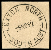 Lot 1683:Loxton North: - 'LOXTON NORTH/-5NO52/SOUTH AUST.' on piece. [Rated R]  PO 1/3/1949; LPO c.-/3/1993.