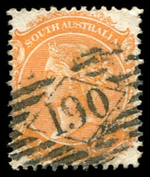 Lot 1304:190: on 2d orange P13.  Allocated to Tumby Bay-PO 18/11/1863.