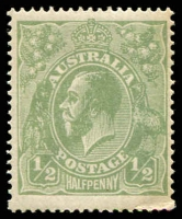 Lot 174:½d Green Comb Perf - BW #63 Dull Green shade, Cat $20.