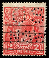 Lot 250:2d Red Die I - BW #96(11)m [11R60] Retouched SE corner, perf 'OS/NSW', Cat $45+.