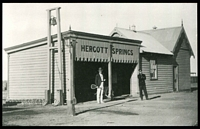 Lot 1510:Hergott Springs: - black & white real photo of Hergott Springs R.S. taken c.1910.  PO c.1884; renamed Marree PO 1/7/1918.