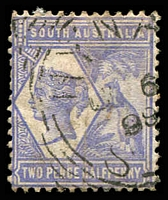 Lot 1524:Hynam (3): squared-circle 'HYNA[M]/OC6/99/S_[A]' on 2½d QV & Roo. [Rated 2R]  PO 1/8/1896; CMA 30/6/1994; closed 30/8/1996.