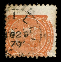 Lot 8502:Keilli: - framed '[KE]ILLI/?N02/79/S_A' on 2d orange DLR. [Rated 3R]  Renamed from Broughton Extension PO c.-/2/1876.