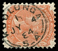 Lot 8517:Koolunga: - framed 'KOOLUNGA/1/JY4/84/S_A' on 2d orange DLR. [Rated 3R]  PO c.1875.