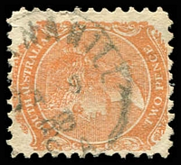 Lot 1589:Mannahill: framed '[MA]NNAHILL//JA9/88/S.A' (LRD) on 2d orange DLR. [Rated 4R]  PO 1/1/1881; closed 11/8/1986.