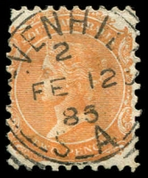 Lot 1865:Sevenhill (2): - squared-circle '[S]EVENHILLS/2/FE12/85/S_A' (sic) on 2d orange DLR.  PO c.1870; renamed Sevenhills  c.1925.