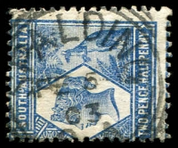 Lot 10332:Spalding: - squared-circle 'SPALDING/FE5/03/S_A' on 2½d blue QV & Roo.  PO c.1875.