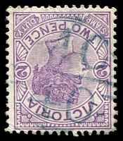 Lot 11070:1140: 'MC/40' in blue on 2d violet.  Allocated to Lubeck-PO 11/8/1879; closed 18/12/1989.