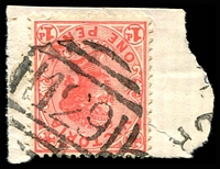 Lot 10471:129: on 1d pink.  Allocated to Epping-PO 1/9/1857.