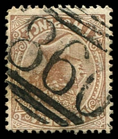 Lot 12032:860: '860' 1st type on 2d sepia.  Allocated to Yarrawonga-PO 28/11/1874.