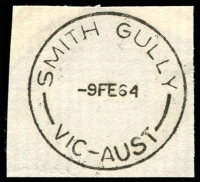 Lot 2945:Smith Gully: - WWW #10 'SMITH GULLY/9FE64/VIC-AUST' (ERD). [Opened for less than 12 months]  Renamed from Smith Gully Road PO 1/2/1964; renamed Smiths Gully PO c.-/11/1964.