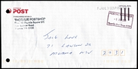 Lot 3193:Thornlie: rectangle 'POSTAL MANAGER/1JUL2003/Thornlie Post Shop 6108' on face of stampless long APO cover, filing holes.  PO 1/12/1959.