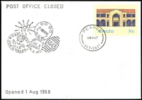 Lot 1170:Pearce: - 'PEARCE/28MR87/ACT-2607' (Last Day) on 36c PSE on Philas PO closure cover.  PO 1/8/1968; closed 28/3/1987.