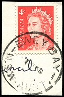Lot 835:Ewey Bay: - 'EWEY BAY/1??66/N.S.W-AUST' on 4c red QEII.  RO 15/3/1910; PO 1/7/1927; closed 31/8/1971.