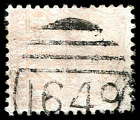 Lot 6080:1649: '1649' BN on 1d Arms (faded). [Rated 2R]  Allocated to Kembla Heights-PO 1/2/1892; closed 30/3/1979.