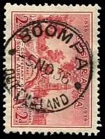 Lot 1581:Boompa: - 'BOOMPA/5NO36/QUEENSLAND' on 2d SA Centenary.  RO c.1891; PO c.1916; closed 11/4/1970.