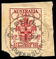 Lot 1608:Capella: - 'CAPELLA/6NO56/QUEENSLAND' on 4d Olympics.  PO 5/12/1882.