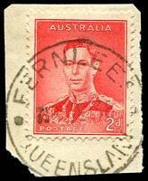 Lot 1628:Fernlees: - 'FERNLEES/8DE38/QUEENSLAND' on 2d red KGVI.  PO 29/11/1886; RO 1/10/1892; PO c.1914; closed 14/10/1976.