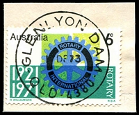 Lot 1643:Glenlyon Dam: - 'GLENLYON DAM/1?DE73/QLD-4389' on 6c Rotary. [Archival]  PO 20/8/1973; closed 8/10/1976.