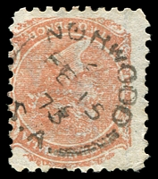Lot 8688:Norwood: - 21mm unframed 'NORWOOD/2/FE15/73/S.A' on 2d orange DLR. [Rated R]  PO 1/8/1853.