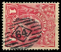 Lot 1737:64: on 1d red KGV.  Allocated to Adelaide-PO 10/4/1837.