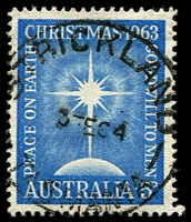 Lot 2119:Strickland (2): - 'STRICKLAND/3FE64/TASMANIA' on 5d Xmas. [Rated 2R]  PO 2/2/1951; closed 30/3/1968.
