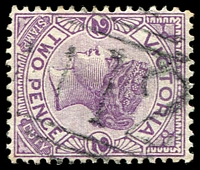 Lot 1972:1012: 'M12' on 2d violet. [Rated SS]  Allocated to Cape Otway-TO 1/8/1859; PO 1/9/1880; RO 21/10/1918; PO 1/7/1927; closed 31/7/1972.