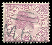 Lot 10964:1065: 'M65' on 2d violet.  Allocated to Nar Nar Goon-PO 15/9/1881; LPO 28/5/1993.