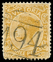 Lot 10981:1094: 'M94' on 3d yellow. [Rated S]  Allocated to Archdale-PO 1/10/1878; closed 31/12/1961.