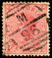 Lot 10983:1096: right half of duplex on 1d pink.  Allocated to Waterloo, Gippsland-PO c.-/10/1878; renamed Yarragon PO 20/12/1883; LPO 22/11/1993.