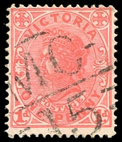 Lot 2003:1115: 'MC/15' on 1d pink.  Allocated to Trafalgar-PO 2/6/1879; LPO 1/6/1994.