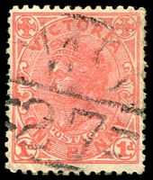 Lot 2006:1127: 'MC/27' on 1d pink. [Rated R]  Allocated to Chintin-PO 1/5/1879; closed 30/9/1965.