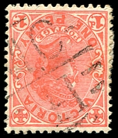 Lot 12711:1141: 'MC/41' on 1d pink [Rated S]  Allocated to Carapooee R.S.-PO 4/8/1879; renamed Carapooee PO 2/2/1967.