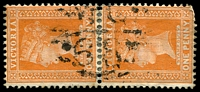 Lot 11027:1168: 'MC/68' on 1d brown pair.  Allocated to Perry Bridge-PO 10/12/1879, provisionally closed 30/4/1956; closed 16/7/1956.