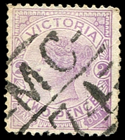Lot 11030:1174: 'MC/74' on 2d violet.  Allocated to Bylands-PO 18/2/1880; closed 24/4/1994.