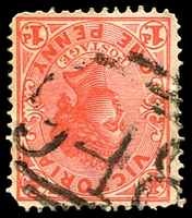 Lot 10913:948: '948' on 1d pink.  Allocated to Bethanga-PO 4/10/1879; closed 30/4/1952.