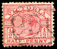 Lot 12078:950: '950' on ½d pink. [Rated S]  Allocated to Dergholm-PO 1/8/1876; LPO 28/6/1994.