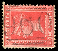 Lot 10919:960: '960' on 1d pink. [Rated S]  Allocated to Allan's Flat-PO 26/10/1876; closed 30/6/1975.