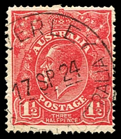 Lot 678:1½d Red Die I - BW #90(17)l [17R3] Scratched electro, Cat $90.
