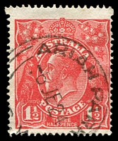 Lot 499:1½d Red Die I - [18L60] Irregular white flaw above small 1 in LVT etc - ACCC State I, 'ARIAH PARK/6JE24/[N].S.W