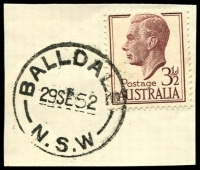 Lot 734:Balldale: - 'BALLDALE/29SE52/N.S.W' on 3½d brown KGVI.  PO 1/6/1905.