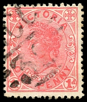 Lot 11062:1239: 'MCC/39' on 1d pink.  Allocated to Mangalore R.S.-PO 1/8/1881; renamed Mangalore PO 12/9/1910.