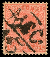 Lot 12762:1245: 'MCC/45' on 1d pink. [Rated SS]  Allocated to Tamleugh-PO 10/11/1881; RO 1/12/1917; PO 1/7/1927; closed 12/12/1968.