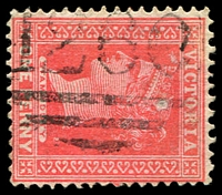 Lot 11071:1260: '1260' on 1d pink.  Allocated to Caniambo-PO 2/1/1882; closed 31/7/1974.