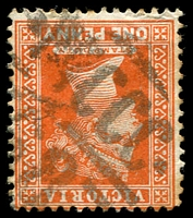 Lot 11118:1368: 'MCCC/68' on 1d brown.  Allocated to Mysia R.S.-PO 5/11/1883; replaced by Mysia PO 25/10/1911.