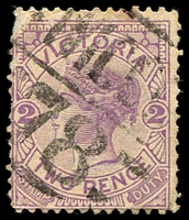 Lot 11121:1378: 'MCCC/78' on 2d violet. [Rated 3R]  Allocated to Tittybong-PO 1/1/1884; RO 16/9/1904; PO 1/7/1927; closed 31/3/1968.