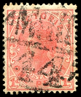 Lot 11142:1444: 'MCCCC/44' on 1d pink.  Allocated to Redesdale-PO 22/3/1865; LPO 6/10/1994.