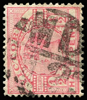 Lot 11154:1512: 'MD/12' on ½d pink.  Allocated to Bloomfield R.S.-PO 1/5/1886; renamed Nilma PO 1/11/1909.